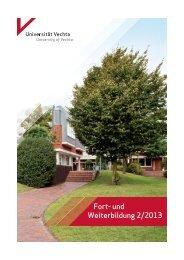 Fort- und Weiterbildung 2/2013 - Universität Vechta