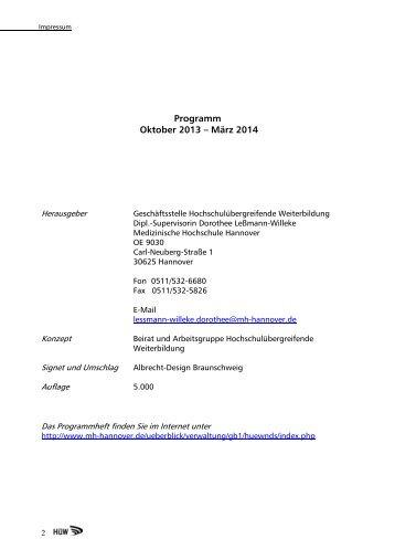 HÜW-Programm Oktober 2013 - Universität Vechta