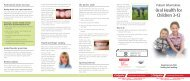 Download the Oral Health for Children 3-12 Brochure