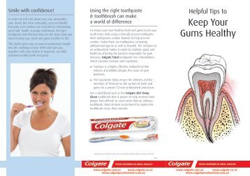 Download the Keep Your Gums Health Brochure
