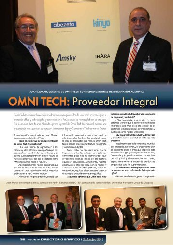 OMNI TECH: Proveedor Integral - The Intermarket Group