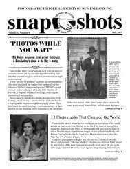 photos while you wait - Photographic Historical Society of New ...