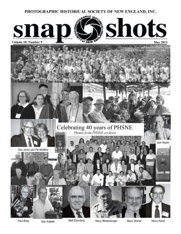 May 2013 - Photographic Historical Society of New England
