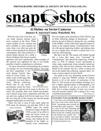January 2012 - Photographic Historical Society of New England