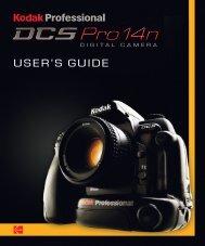 KODAK PROFESSIONAL DCS Pro 14n Digital ... - Sensor Cleaning