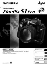FinePix S1 Pro Manual - Sensor Cleaning