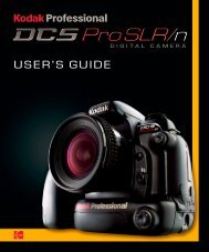 KODAK PROFESSIONAL DCS Pro SLR/n Digital ... - Sensor Cleaning