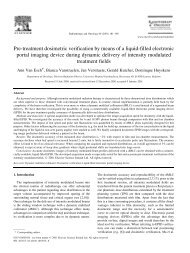 Pre-treatment dosimetric verification by means of a liquid-filled ...