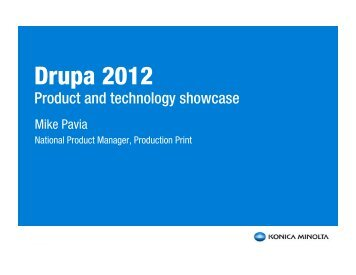 Pre-Drupa presentation - Digital Imaging Association