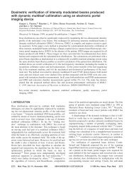 Dosimetric verification of intensity modulated beams produced with ...