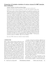 Comparison of ionization chambers of various volumes for IMRT ...