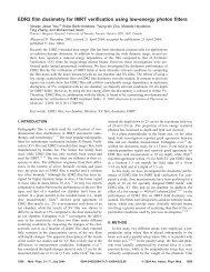 EDR2 film dosimetry for IMRT verification using low-energy photon ...