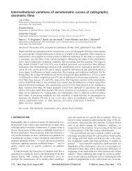 Interinstitutional variations of sensitometric curves of radiographic ...