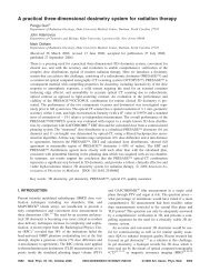 A practical three-dimensional dosimetry system for radiation therapy