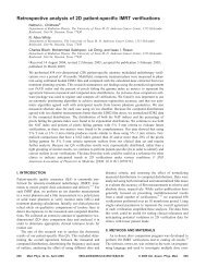 Retrospective analysis of 2D patient-specific IMRT ... - ResearchGate