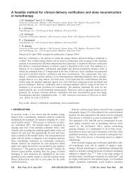 A feasible method for clinical delivery verification and dose ...