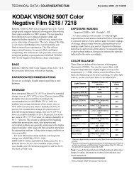 KODAK VISION2 500T Color Negative Film 5218 / 7218