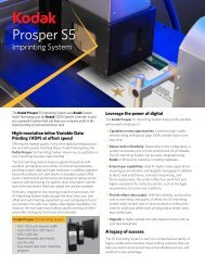 Kodak Prosper S5 Imprinting System Data Sheet
