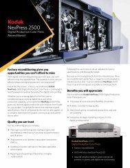 NexPress 2500 Digital Production Color Press Reconditioned - Kodak