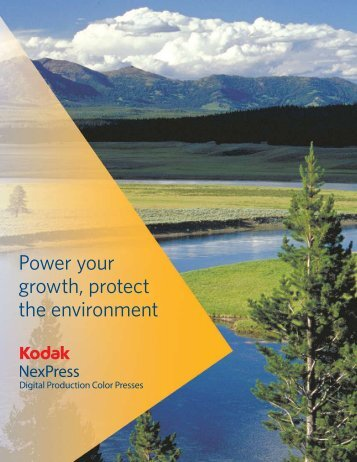 Power your growth, protect the environment - Kodak