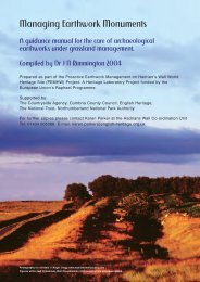 Managing Earthwork Monuments - Introduction | PDF - HELM