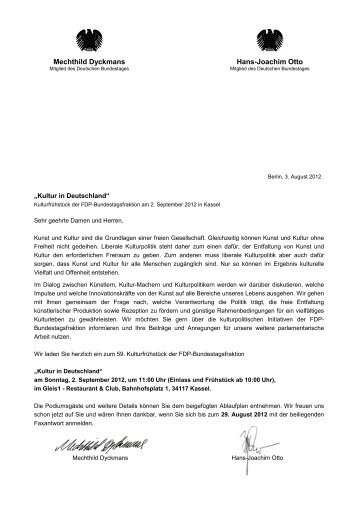 Einladung / Ablauf 59. Kulturfrühstück in Kassel - FDP ...