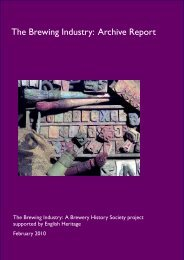The Brewing Industry: Archive Report | PDF - English Heritage