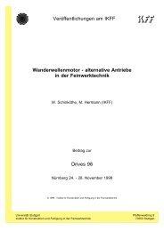Wanderwellenmotoren - Universität Stuttgart
