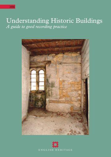 Understanding Historic Buildings - Part 1 | PDF - English Heritage