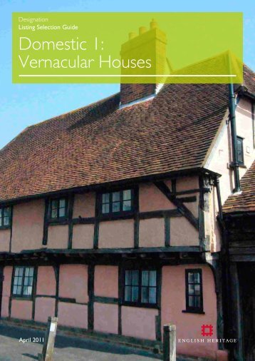 Domestic 1: Vernacular Houses - English Heritage