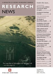 Research News Issue 19: Spring 2013 | PDF - English Heritage