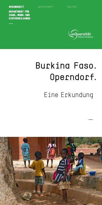 ausführlichen Reisebericht - Universität Witten/Herdecke