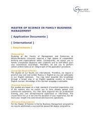 Application Documents - Universität Witten/Herdecke