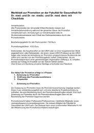 Merkblatt zur Promotion Fakultät für Gesundheit - Universität Witten ...