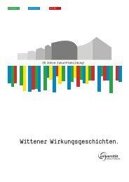 Wittener Wirkungsgeschichten. - Universität Witten/Herdecke