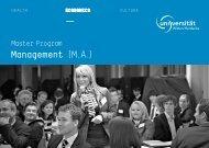 management (M.A.) - Universität Witten/Herdecke