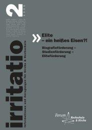 Elite – ein heißes Eisen?! - Forum Hochschule und Kirche eV