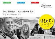 Tag der offenen Tür Mai 2012 - Universität Witten/Herdecke