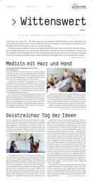 Wittenswert erste Ausgabe - Universität Witten/Herdecke