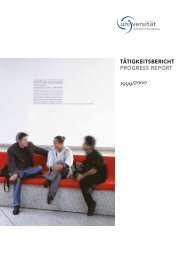 Tätigkeitsbericht 1999/2000 - Universität Witten/Herdecke
