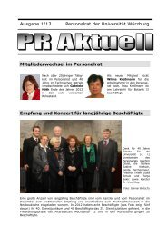 PR Aktuell 1/13 - Universität Würzburg