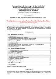 Fachspezifische Bestimmungen für das Studienfach Allgemeine und ...