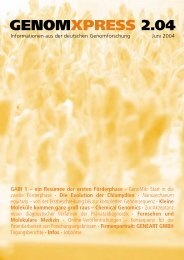GENOMXPRESS 2.04 - Nationales Genomforschungsnetz - NGFN