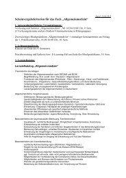 """Scheinvergabekriterien für das Fach """"Allgemeinmedizin"""""""