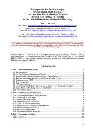 Zweite Satzung zur Änderung der Fachspezifischen Bestimmungen ...