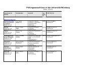 Prüfungsausschüsse an der Universität Würzburg