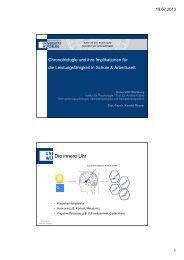 Chronobiologie und ihre Implikationen für die Leistungsfähigkeit in ...