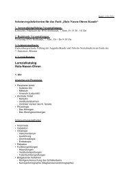 """Scheinvergabekriterien für das Fach """"Hals-Nasen-Ohren-Kunde ..."""