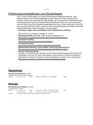 Einführungsveranstaltungen zum Studienbeginn - Universität ...