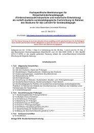 Fachspezifische Bestimmungen für Körperbehindertenpädagogik ...